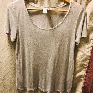 ❤️4 for $30❤️👶Basic H&M Heathered Grey Tee
